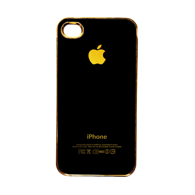 HEAVENCASE Motif Apple Gold 01 Casing for iPhone 4 or iPhone 4s - Emas