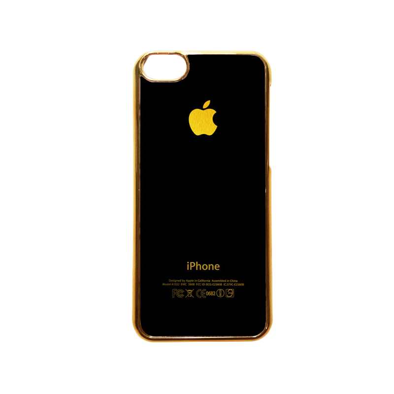 Heavencase Motif Apple Gold 01 Casing for iPhone 5c - Gold