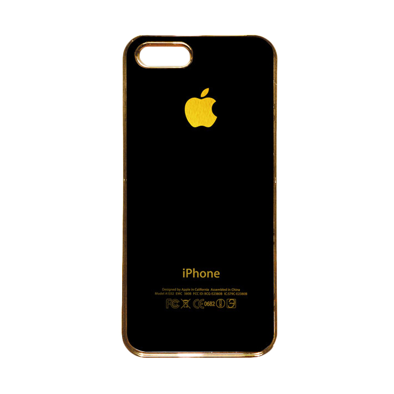 Heavencase Motif Apple Gold 01 Casing for iPhone 5s or iPhone 5 - Gold