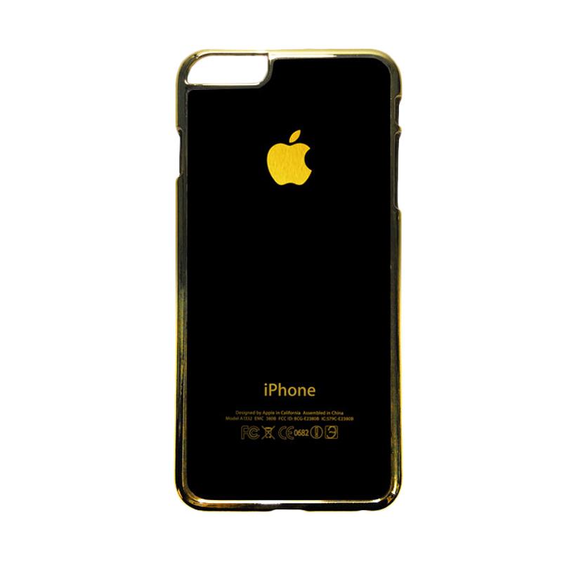 HEAVENCASE Motif Apple Gold 01 Casing for iPhone 6 Plus or iPhone 6s Plus - Emas