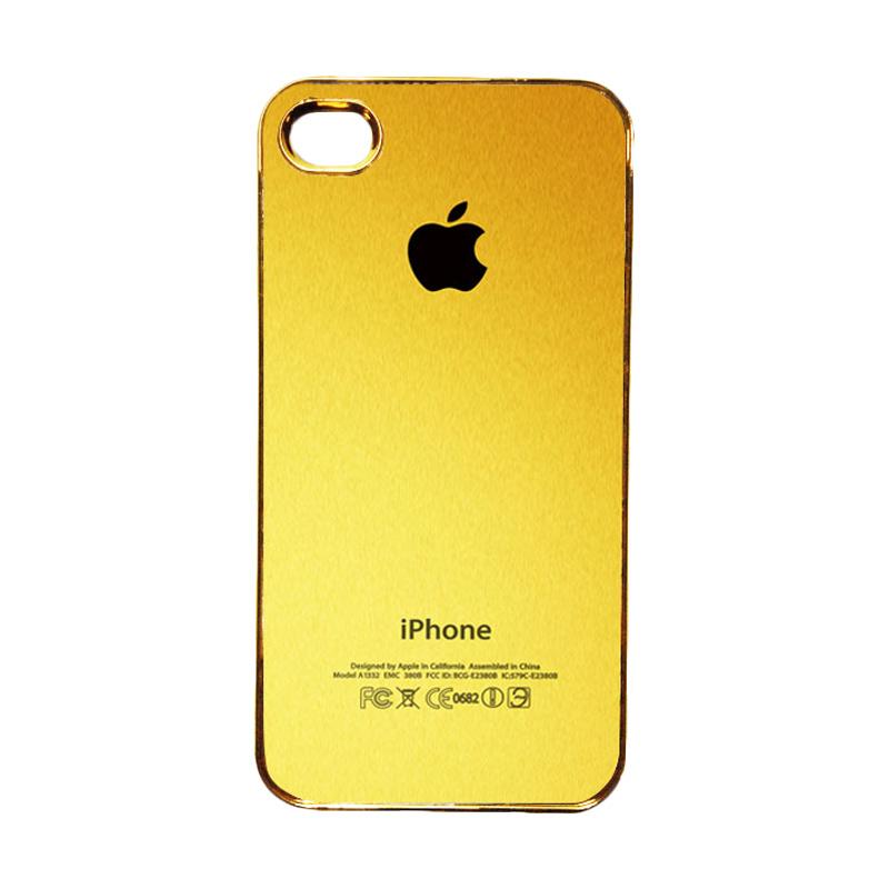 HEAVENCASE Motif Apple Gold 02 Casing for iPhone 4 or iPhone 4s - Emas
