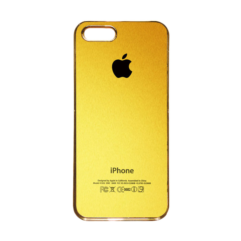 Heavencase Motif Apple Gold 02 Casing for iPhone 5s or iPhone 5 - Gold