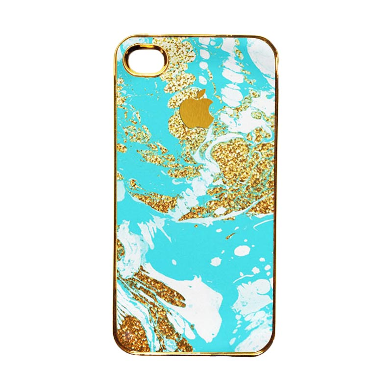 HEAVENCASE Motif Apple Gold 03 Casing for iPhone 4 or iPhone 4s - Emas