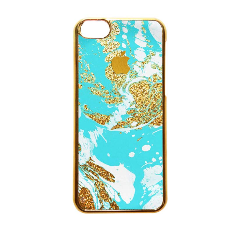 Heavencase Motif Apple Gold 03 Casing for iPhone 5c - Gold