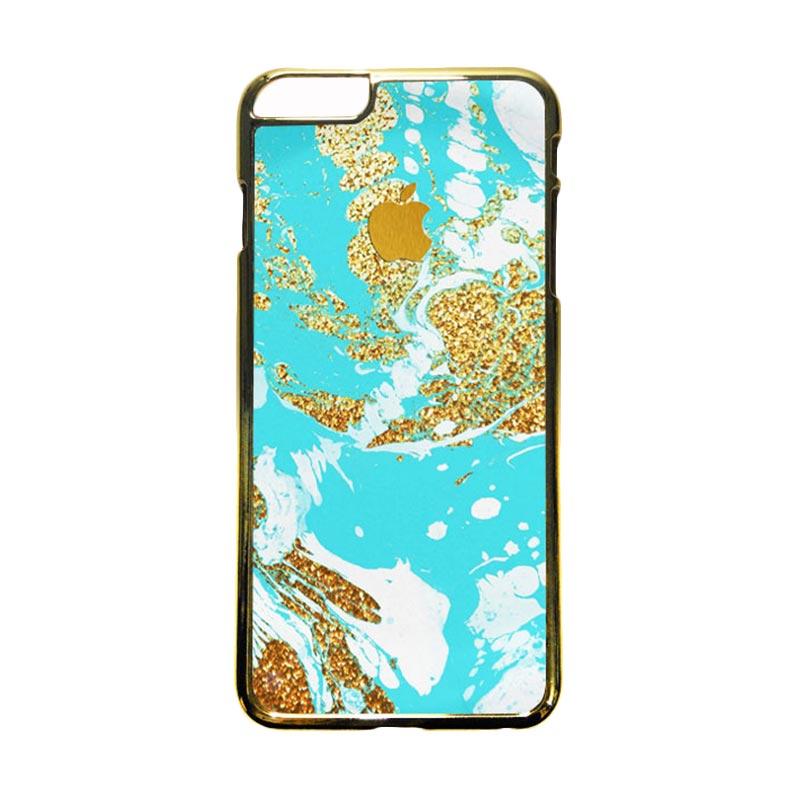 HEAVENCASE Motif Apple Gold 03 Casing for iPhone 6 Plus or iPhone 6s Plus - Emas