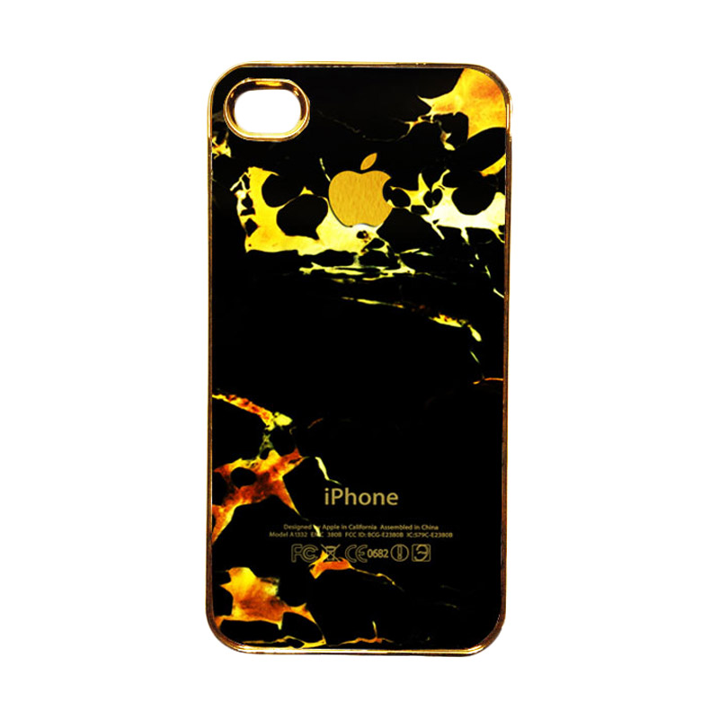 Heavencase Motif Apple Gold 05 Casing for iPhone 4 or iPhone 4s - Gold