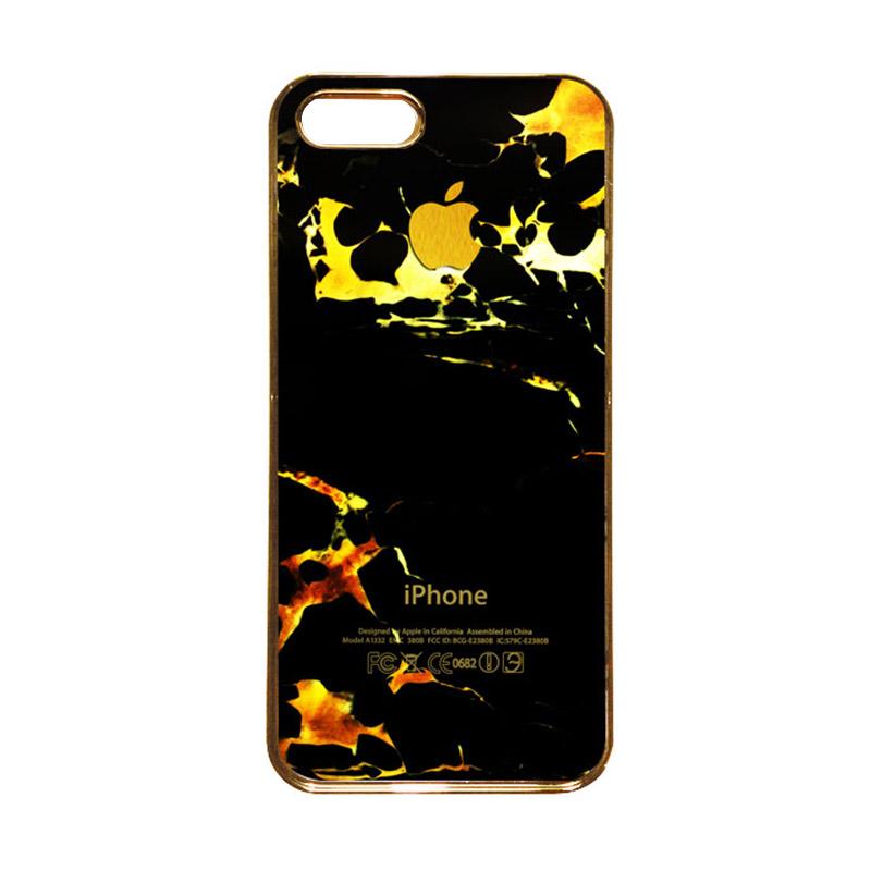 Heavencase Motif Apple Gold 05 Casing for iPhone 5c - Gold