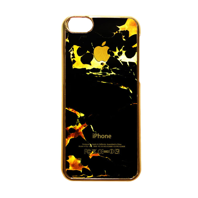 Heavencase Motif Apple Gold 05 Casing for iPhone 5s or iPhone 5 - Gold