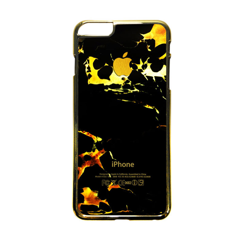 HEAVENCASE Motif Apple Gold 05 Casing iPhone 6 Plus  or iPhone 6s Plus - Emas