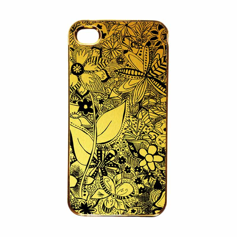Heavencase Motif Apple Gold 06 Casing for iPhone 4 or iPhone 4s - Gold