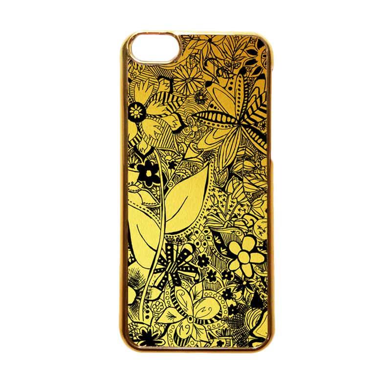 Heavencase Motif Apple Gold 06 Casing for iPhone 5c - Gold