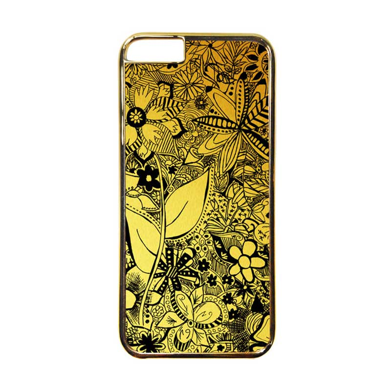 Heavencase Motif Apple Gold 06 Casing for iPhone 6 or iPhone 6s - Gold