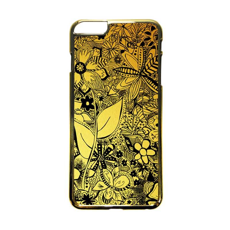 HEAVENCASE Motif Apple Gold 06 Casing iPhone 6 Plus  or iPhone 6s Plus - Emas