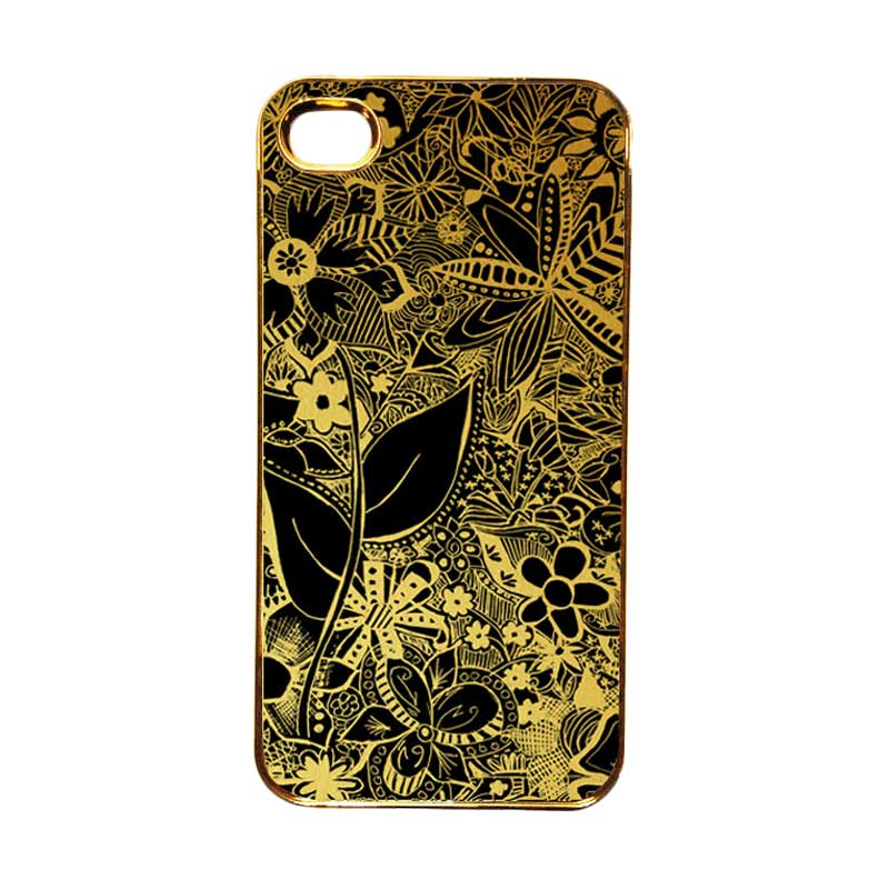 Heavencase Motif Apple Gold 07 Casing for iPhone 4 or iPhone 4s - Gold