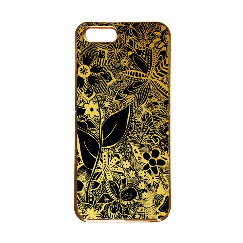 Heavencase Motif Apple Gold 07 Casing for iPhone 5s or iPhone 5 - Gold