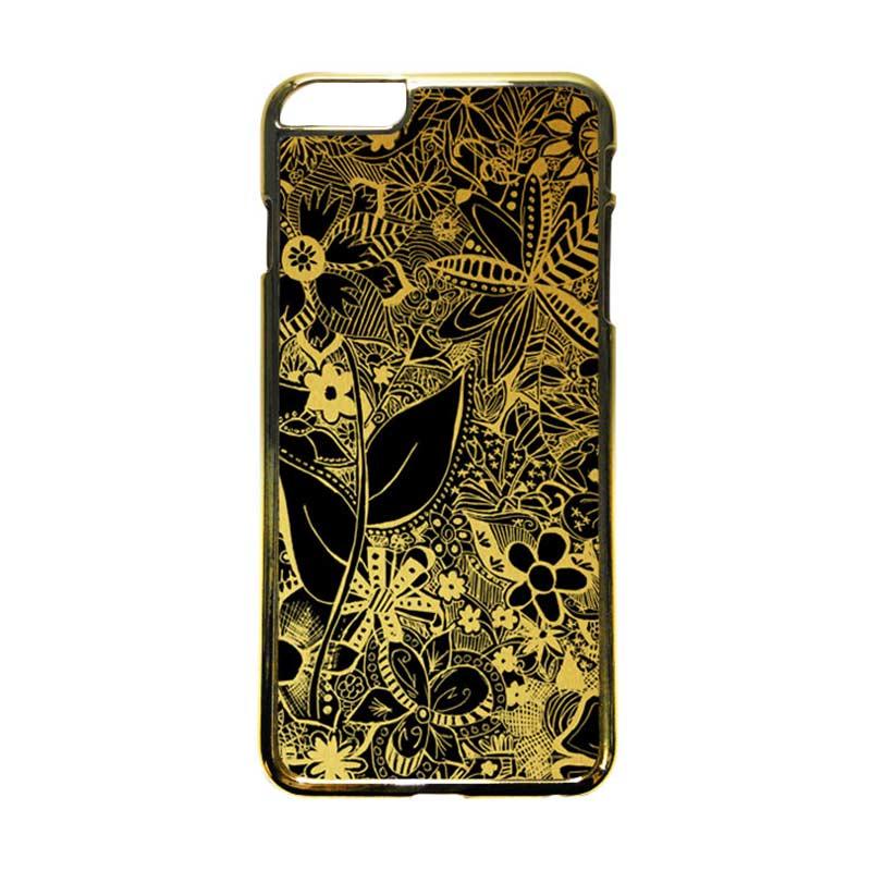 HEAVENCASE Motif Apple Gold 07 Casing iPhone 6 Plus  or iPhone 6s Plus - Emas