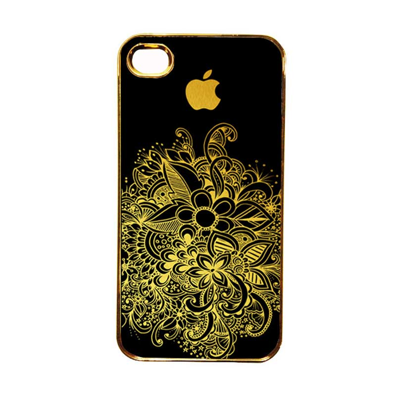 Heavencase Motif Apple Gold 08 Casing for iPhone 4 or iPhone 4s - Gold