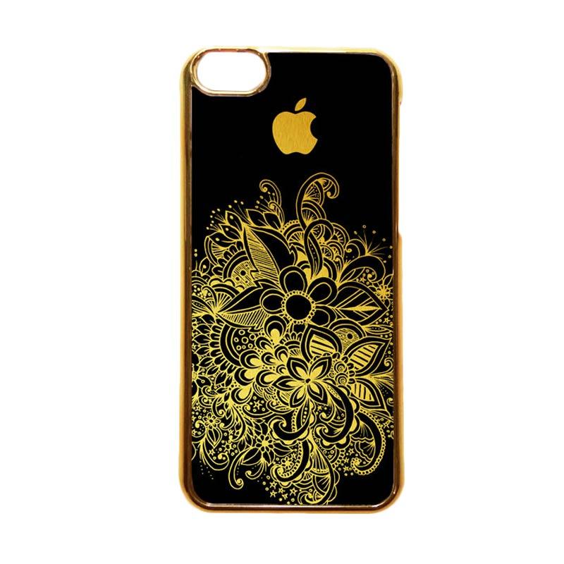 Heavencase Motif Apple Gold 08 Casing for iPhone 5c - Gold
