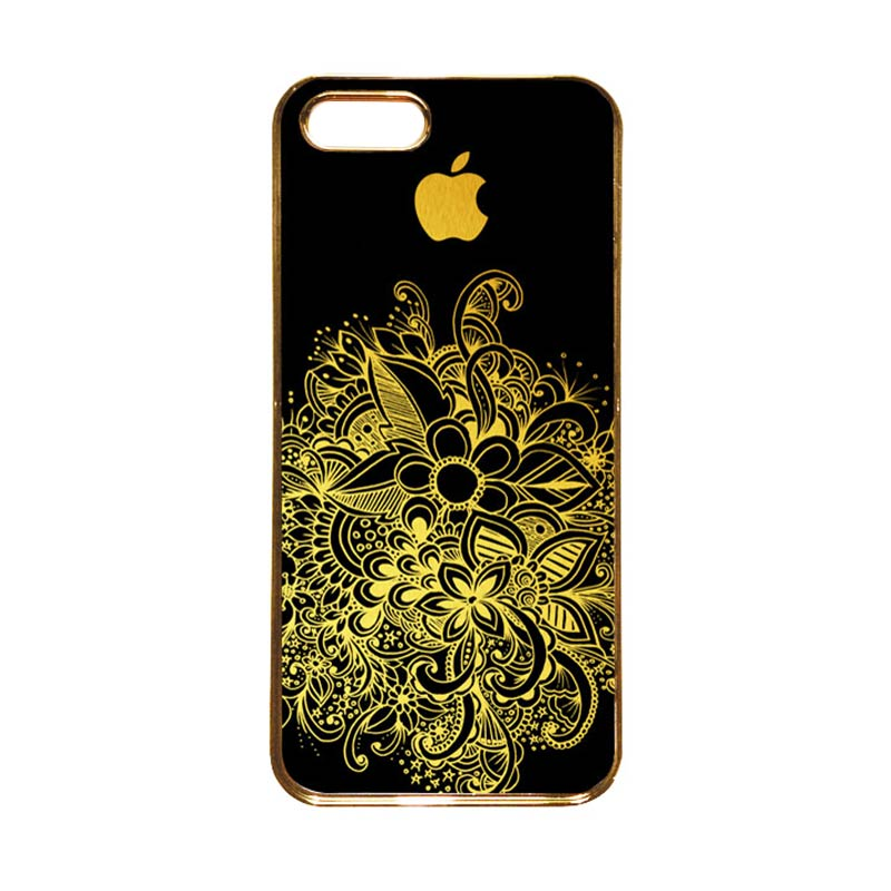 Heavencase Motif Apple Gold 08 Casing for iPhone 5s or iPhone 5 - Gold