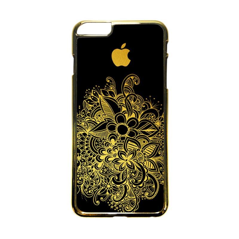 HEAVENCASE Motif Apple Gold 08 Casing iPhone 6 Plus  or iPhone 6s Plus - Emas