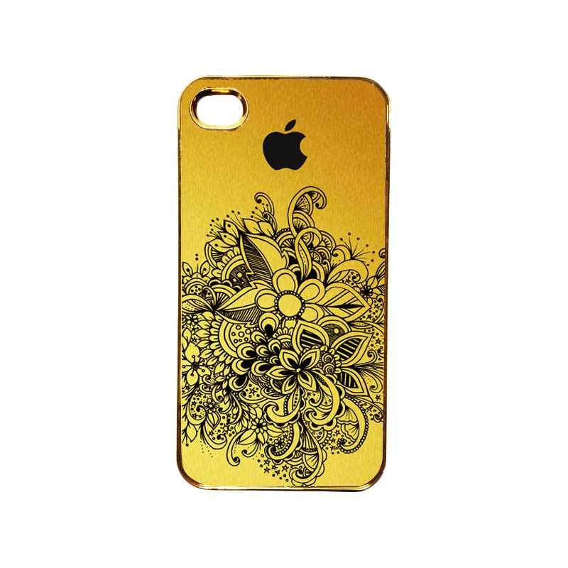 Heavencase Motif Apple Gold 09 Casing for iPhone 4 or iPhone 4s - Gold