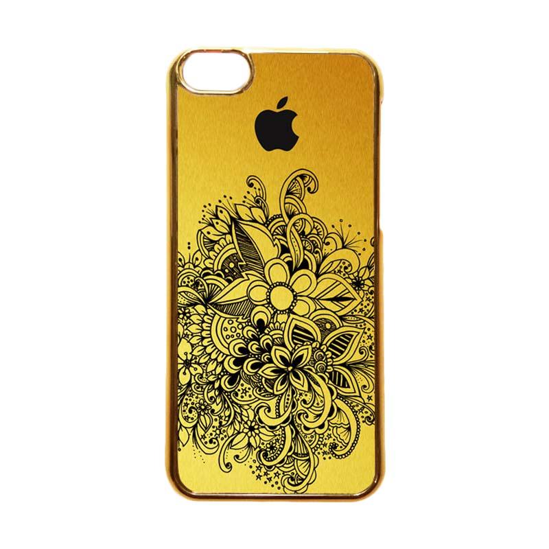 Heavencase Motif Apple Gold 09 Casing for iPhone 5c - Gold