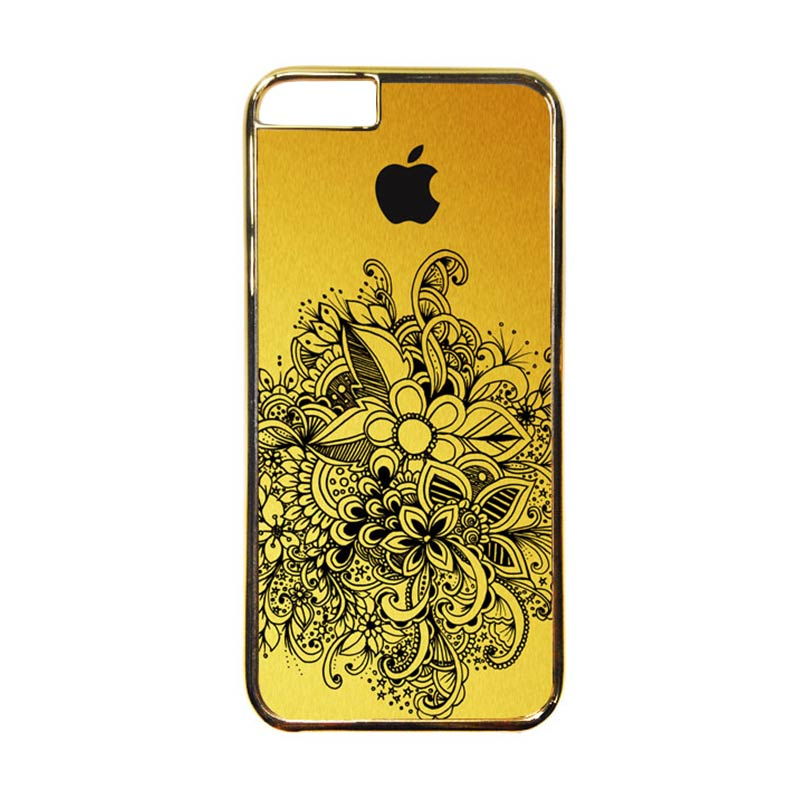 Heavencase Motif Apple Gold 09 Casing for iPhone 6 or iPhone 6s - Gold