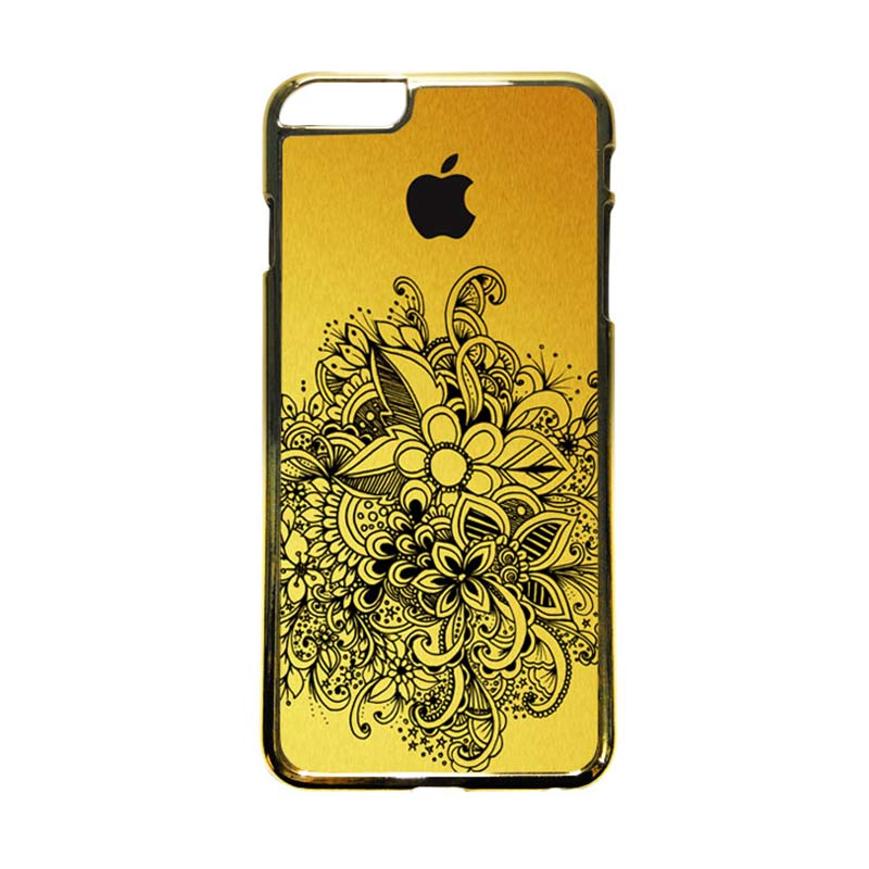 HEAVENCASE Motif Apple Gold 09 Casing iPhone 6 Plus  or iPhone 6s Plus - Emas