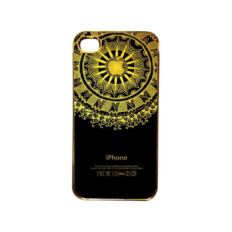 Heavencase Motif Apple Gold 10 Casing for iPhone 4 or iPhone 4s - Gold