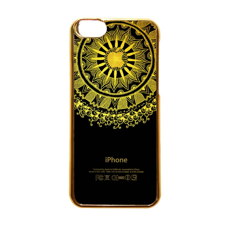 Heavencase Motif Apple Gold 10 Casing for iPhone 5c - Gold