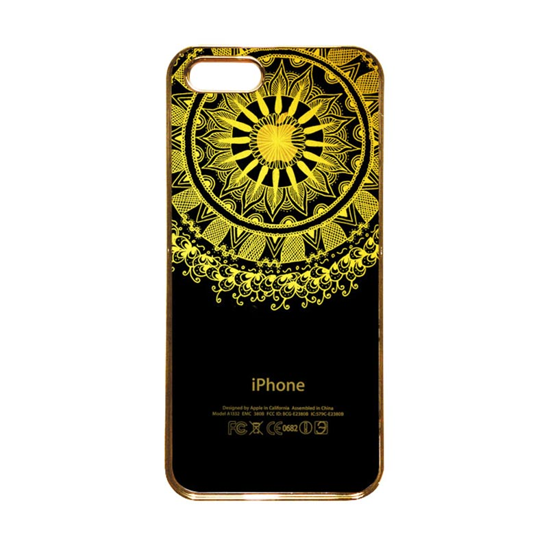 Heavencase Motif Apple Gold 10 Casing for iPhone 5s or iPhone 5 - Gold