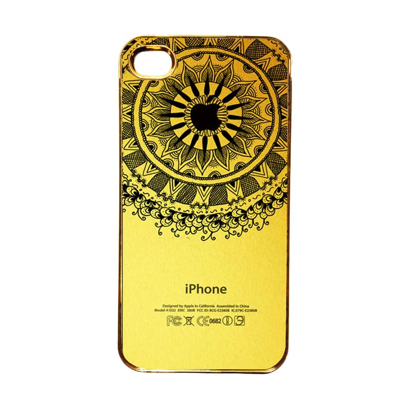 Heavencase Motif Apple Gold 11 Casing for iPhone 4 or iPhone 4s - Gold
