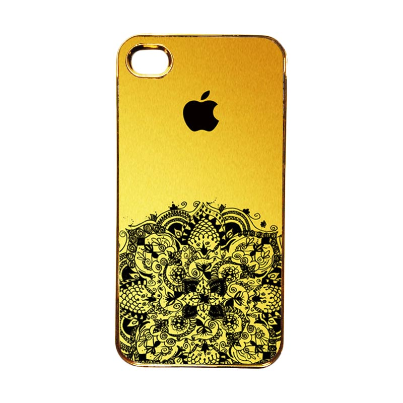Heavencase Motif Apple Gold 12 Casing for iPhone 4 or iPhone 4s - Gold
