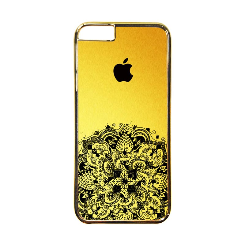 Heavencase Motif Apple Gold 12 Casing for iPhone 6 or iPhone 6s - Gold