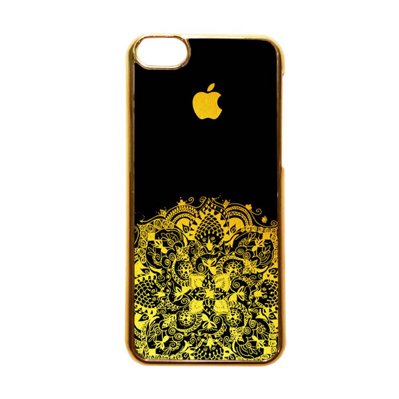 Heavencase Motif Apple Gold 13 Casing for iPhone 5C - Emas