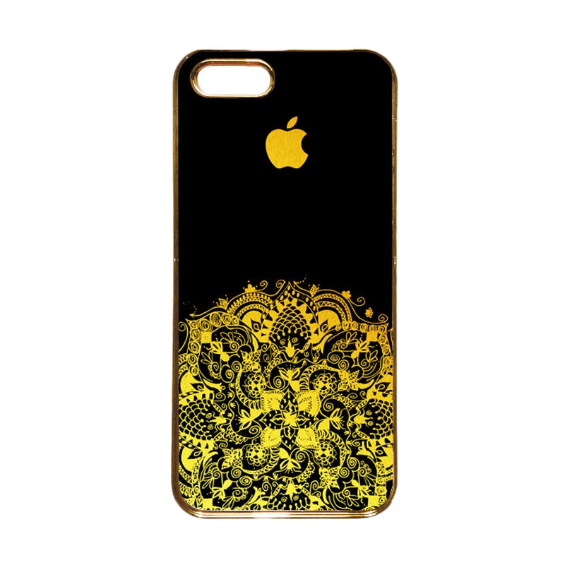 Heavencase Motif Apple Gold 13 Casing for iPhone 5s or iPhone 5 - Gold