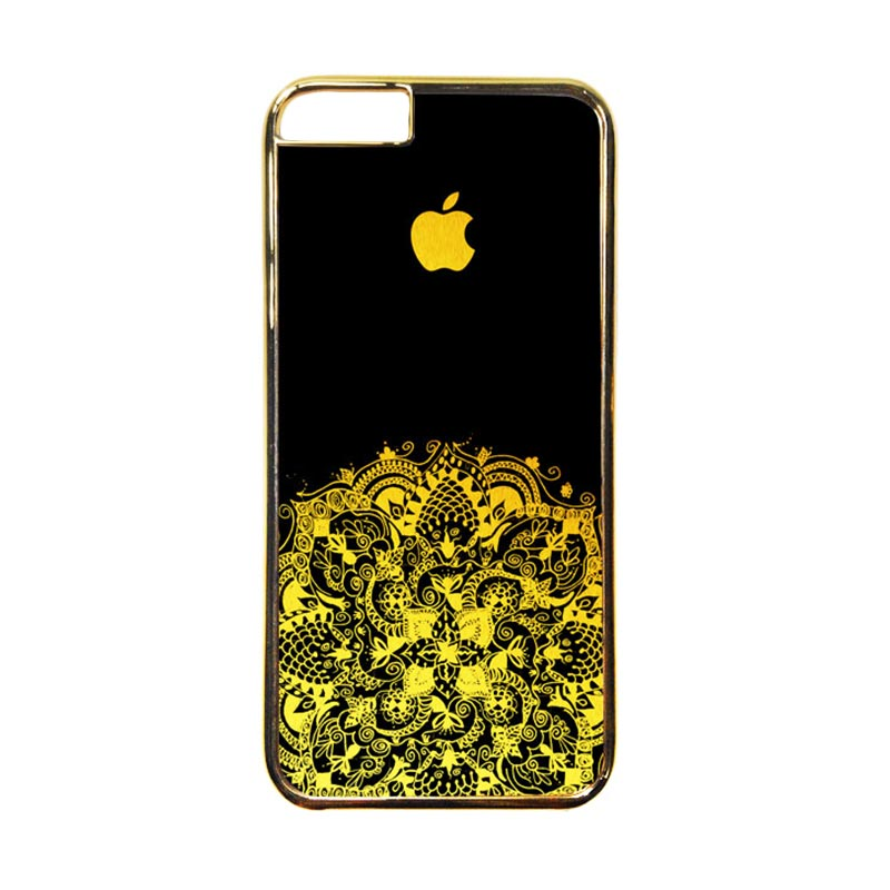 Heavencase Motif Apple Gold 13 Casing for iPhone 6 or iPhone 6s - Gold