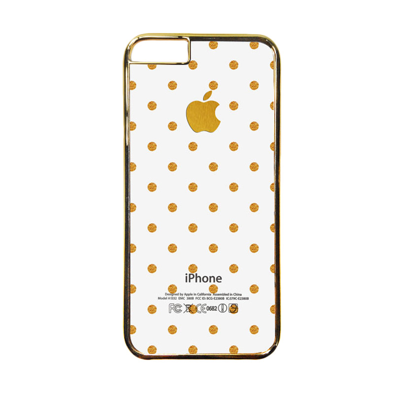 HEAVENCASE Motif Apple Gold 14 Casing for iPhone 6 or iPhone 6s - Emas