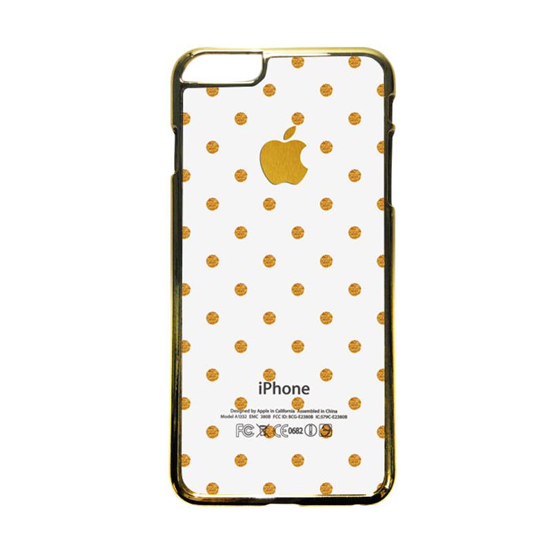 HEAVENCASE Motif Apple Gold 14 Casing for iPhone 6 Plus or iPhone 6s Plus - Emas