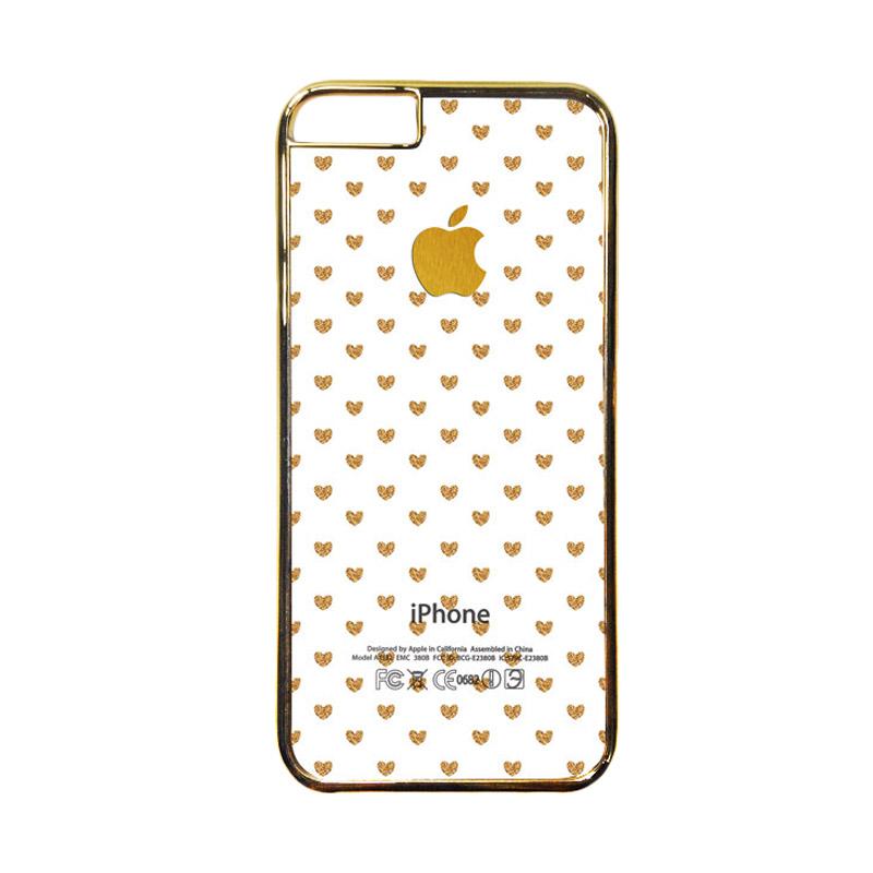 HEAVENCASE Motif Apple Gold 15 Casing for iPhone 6 or iPhone 6s - Emas