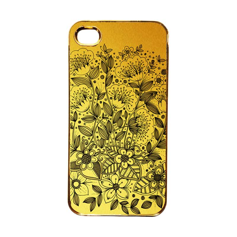 Heavencase Motif Apple Gold 16 Casing for iPhone 4 or iPhone 4s - Gold