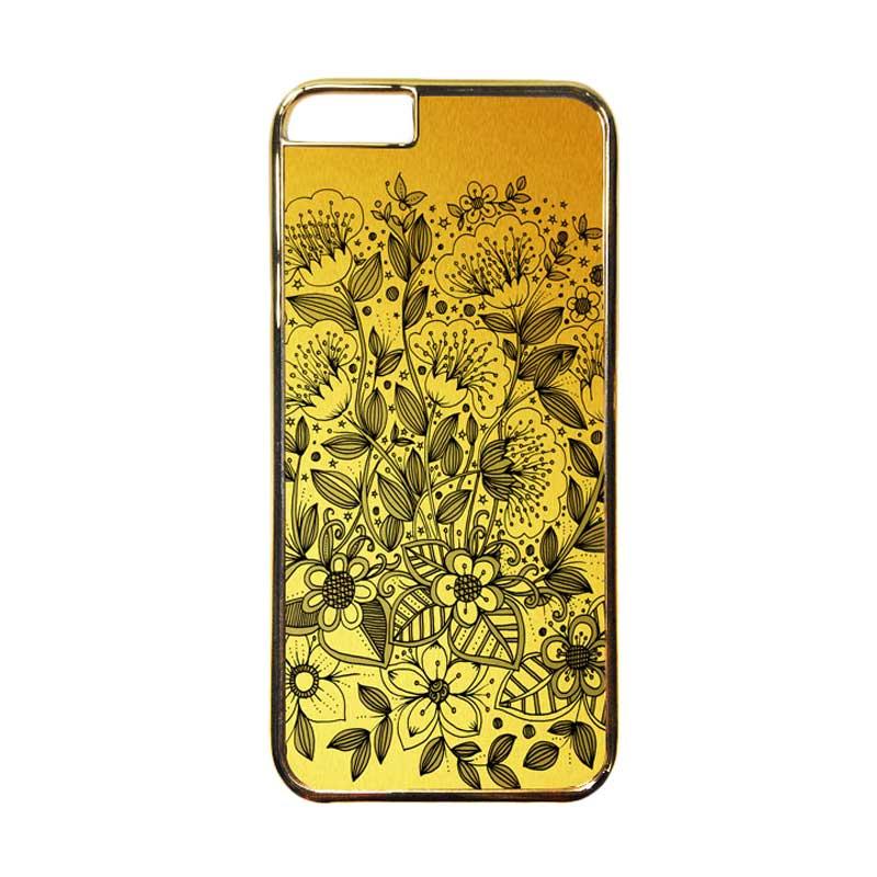 HEAVENCASE Motif Apple Gold 16 Casing for iPhone 6 or iPhone 6s - Emas