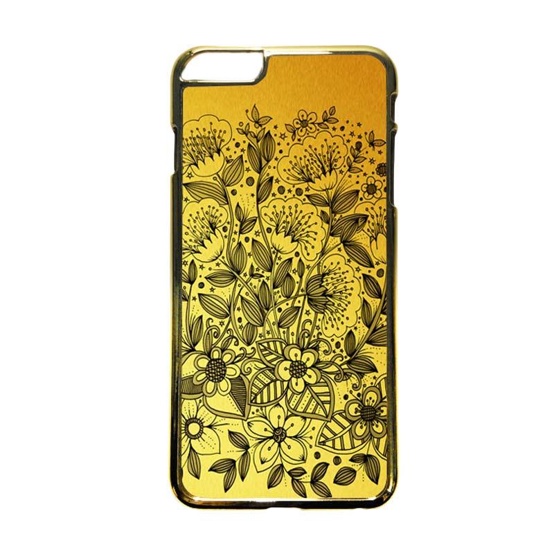 HEAVENCASE Motif Apple Gold 16 Casing for iPhone 6 Plus or iPhone 6s Plus - Emas