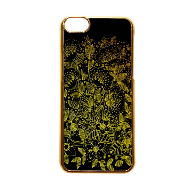 Heavencase Motif Apple Gold 17 Casing for iPhone 5C - Emas