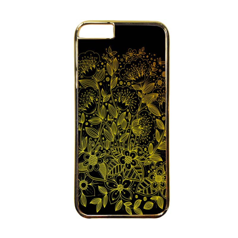 HEAVENCASE Motif Apple Gold 17 Casing for iPhone 6 or iPhone 6s - Emas