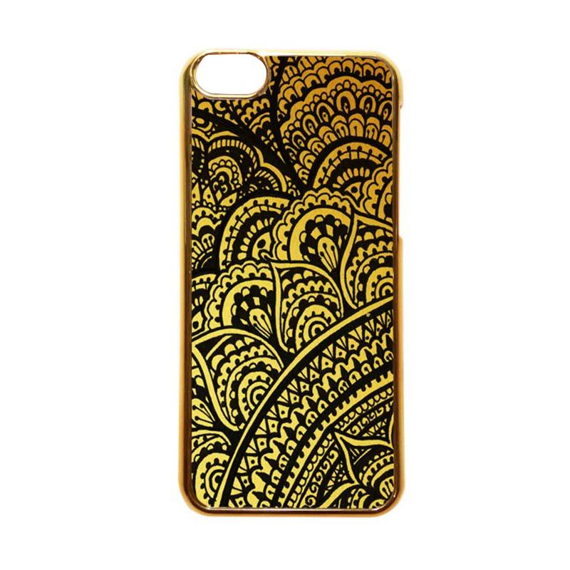 Heavencase Motif Apple Gold 18 Casing for iPhone 5C - Emas