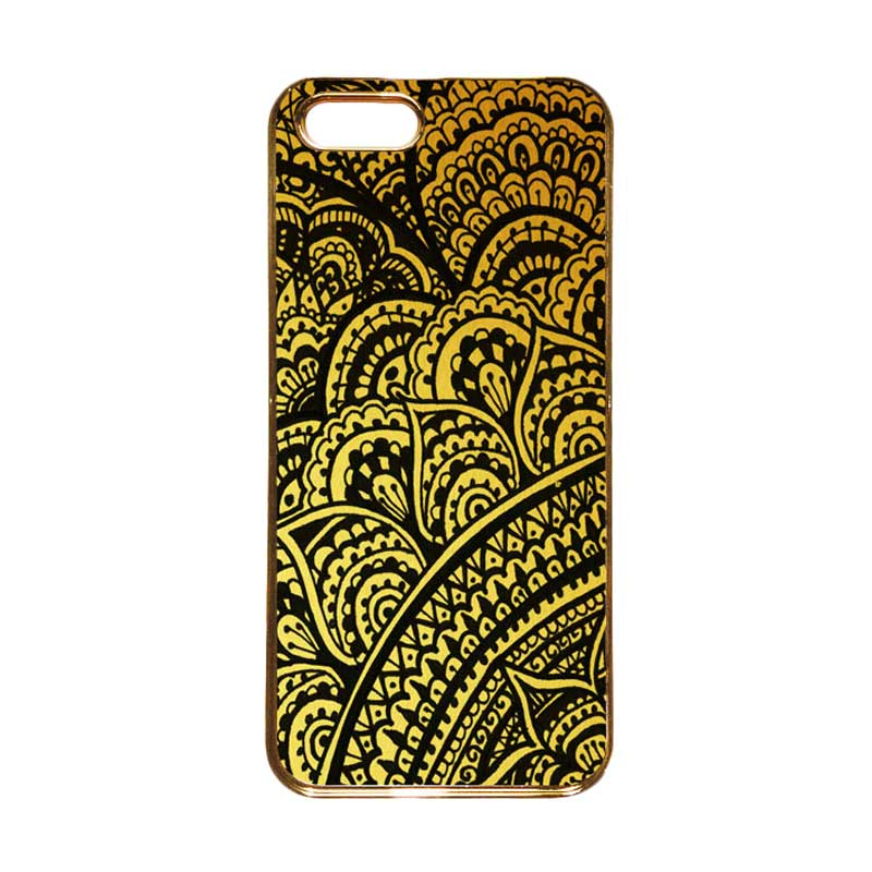 Heavencase Motif Apple Gold 18 Casing for iPhone 5s or iPhone 5 - Gold