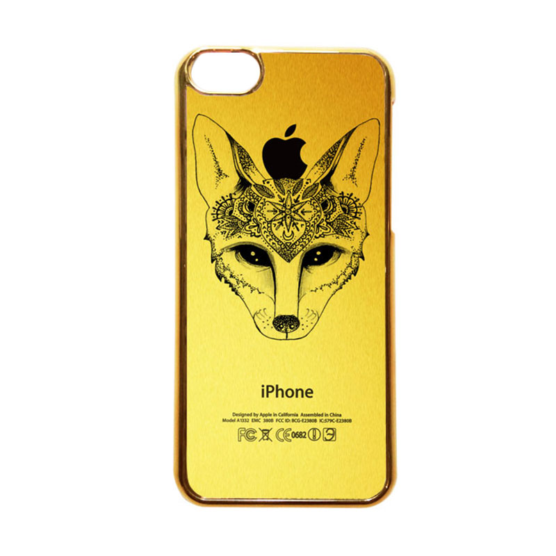 Heavencase Motif Apple Gold 19 Casing for iPhone 5C - Emas
