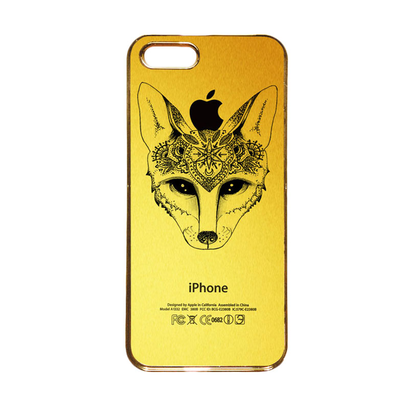 Heavencase Motif Apple Gold 19 Casing for iPhone 5s or iPhone 5 - Gold