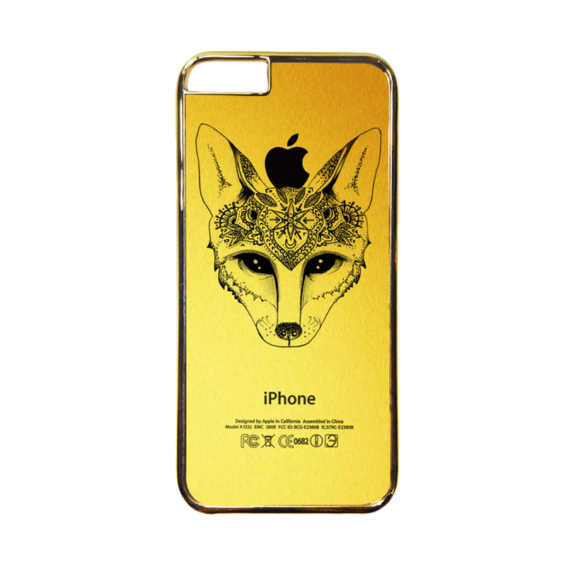 HEAVENCASE Motif Apple Gold 19 Casing for iPhone 6 or iPhone 6s - Emas
